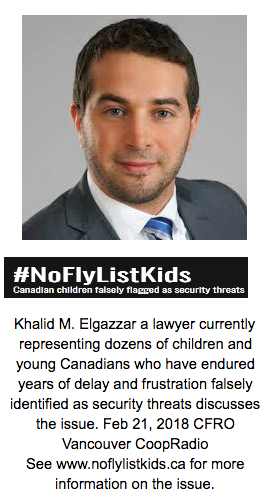 Khalid elGazzar on NoFlyListKids