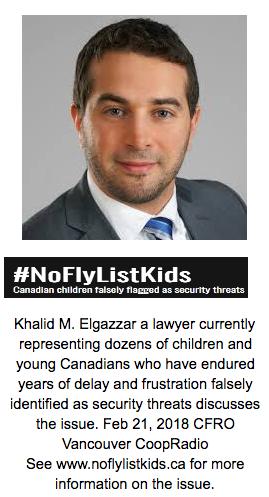 Khalid elGazzar on NoFlyListKids